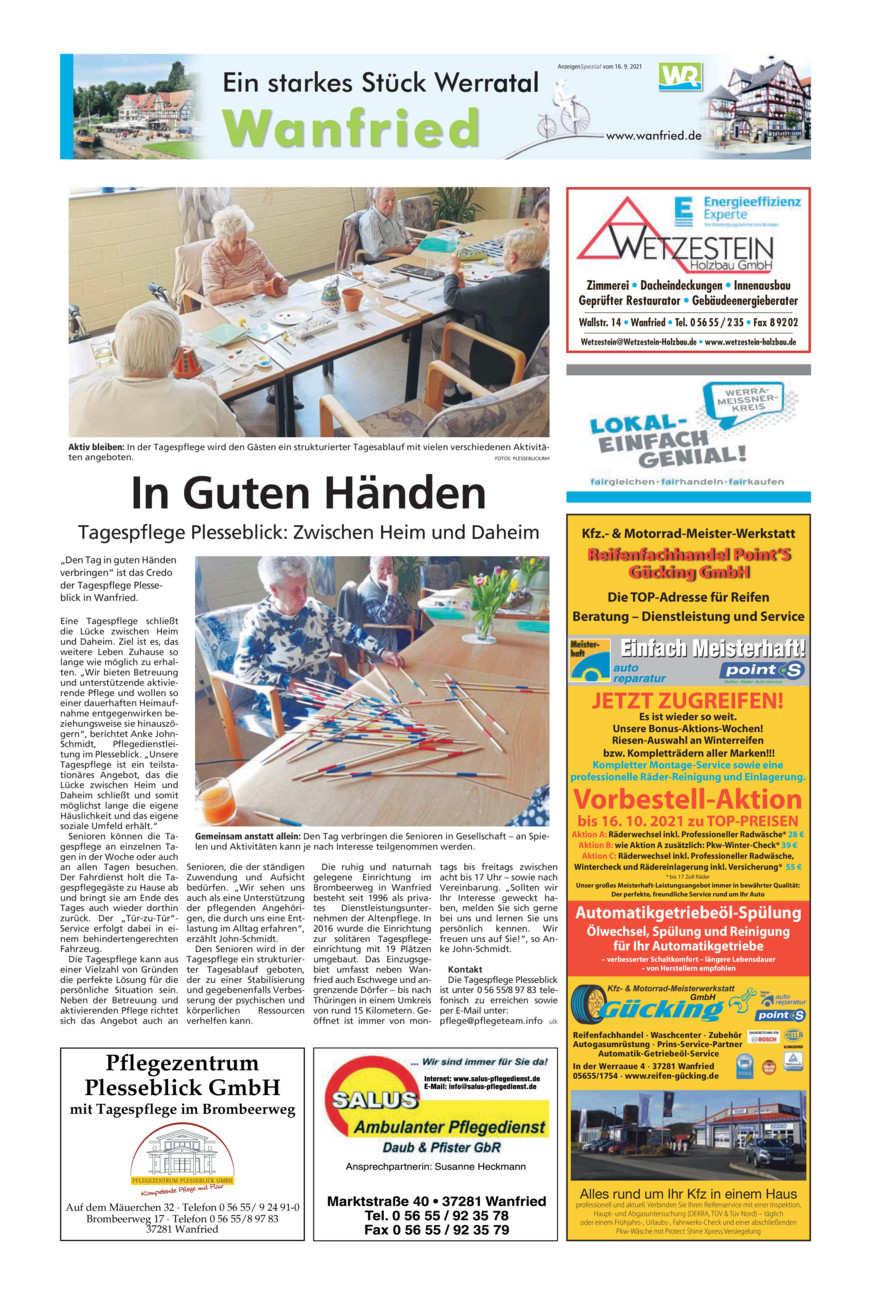 Wanfried vom Donnerstag, 16.09.2021