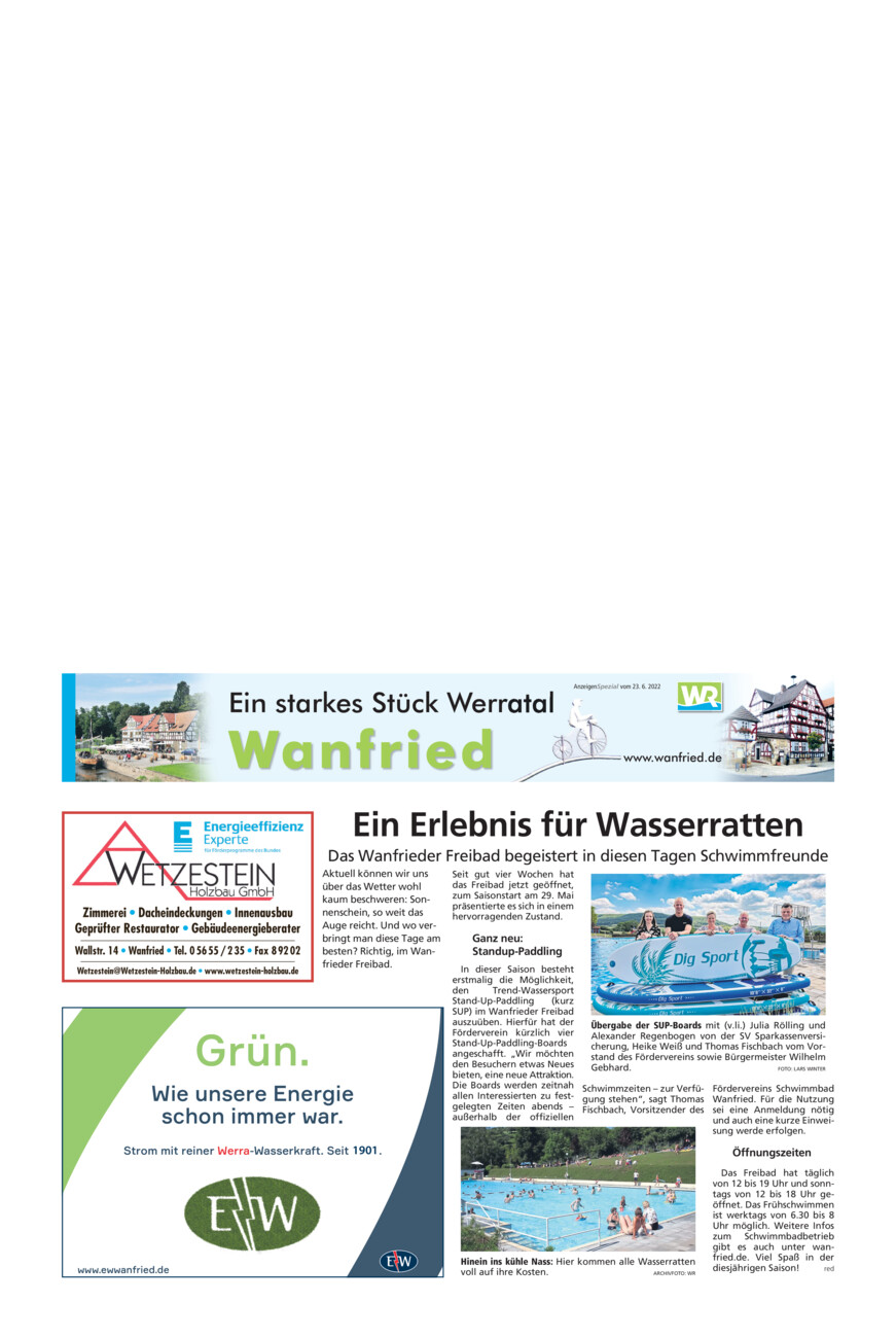 Wanfried vom Donnerstag, 26.08.2021
